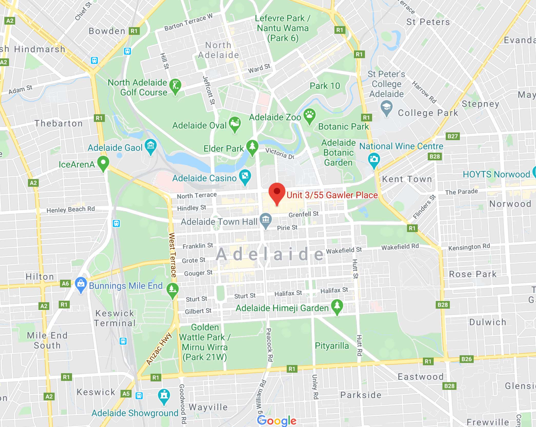 Our Location In Adelaide