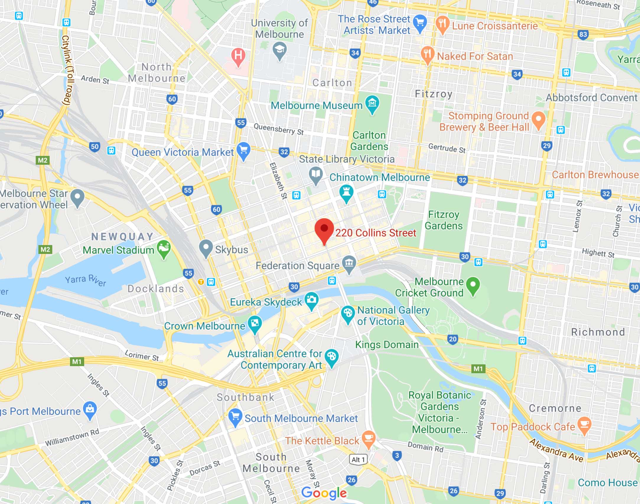 Our Location In Melbourne