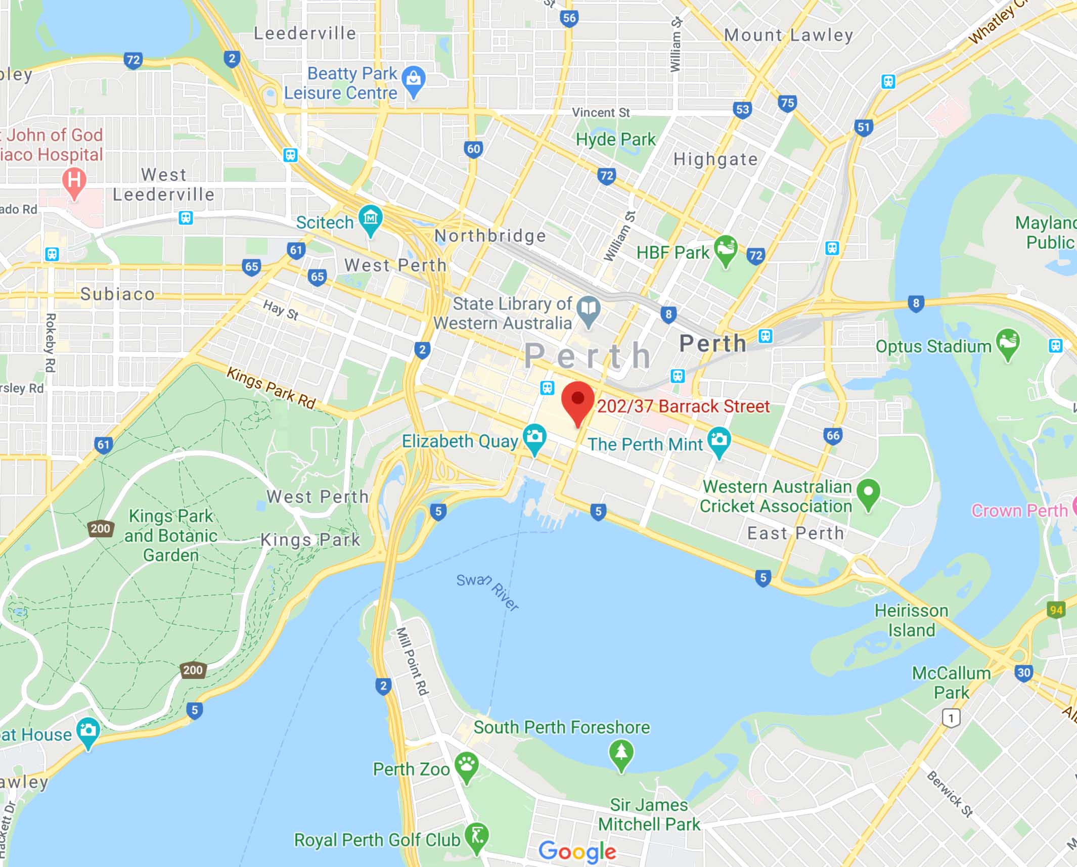 Our Location In Perth