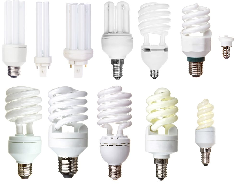 A range of different lightbulbs