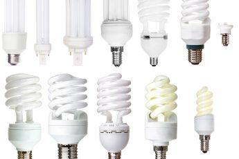 A range of different lightbulbs