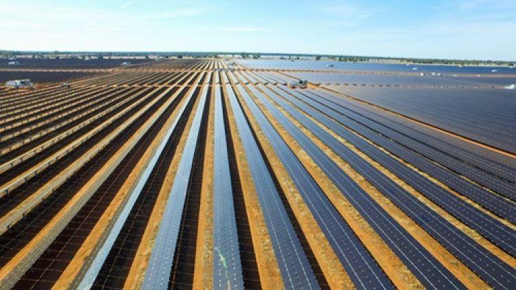 A large solar farm