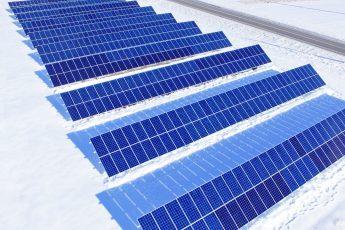 A Solar Array On Snow