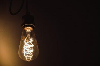 A working lightbulb